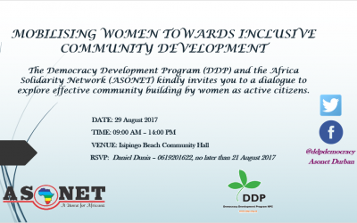 Mobilising Women Towards Inclusive Community Development- Isipingo